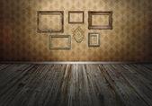 Wand mit kunst-rahmen — Stockfoto