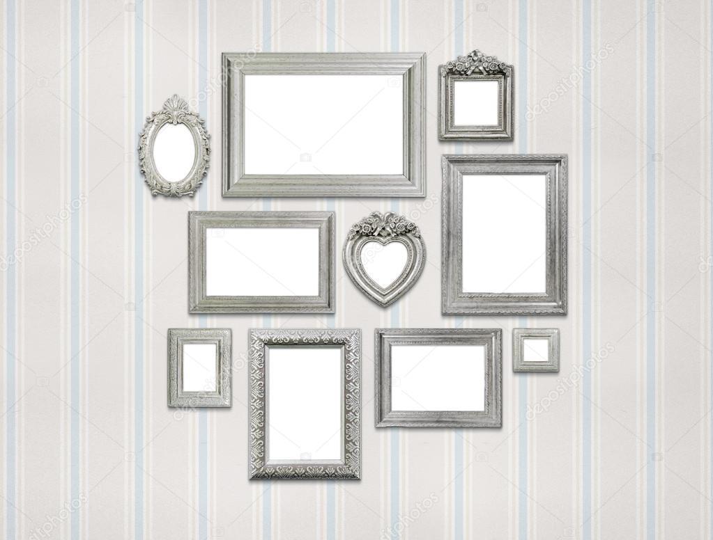 Set di cornici vuote famiglia o ritratto foto stock for Set cornici da parete
