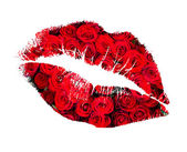 Öpücük dudaklarından gül — Stok fotoğraf