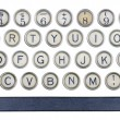 Old typewriter buttons — Stock Photo