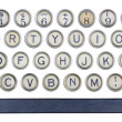 Old typewriter buttons — Stock Photo #26117641