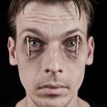 Workaholic or sleepless man — Stock Photo