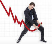 Manipulating the losses or cheating the charts — Stock Photo