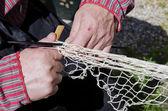 Traditional net making — Stock Photo