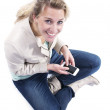 Young woman with smartphone — Stock Photo #28191337