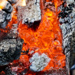 Close up of open fire — Stock Photo