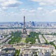 Areal panorama view of paris — Stock Photo