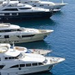 Yachts in harbor of monaco — Stock Photo