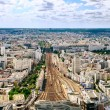Paris train station areal view — Stock Photo