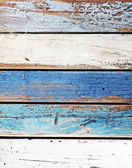 Wooden panel in nautical colors — Stock Photo
