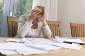 Woman with financial problems. — Stock Photo