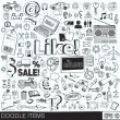 Doodle icons vector image — Stock Vector #34455191