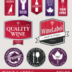 Vector wine labels or logo's — Stock Vector