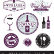 Vector wine labels — Stock Vector