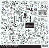 Doodle icons vector image — Stock Vector