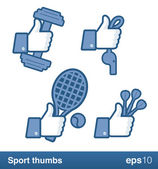Sport like thumbs — Stock Vector
