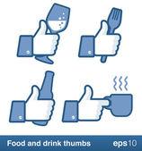 Like thumb for restaurant or bar — Stock Vector