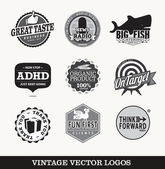 Old retro logo's vector — Stock Vector