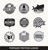 Old retro logo's vector — Stock Vector