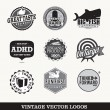 Vector logo's old vintage style — Stock Vector #34730659