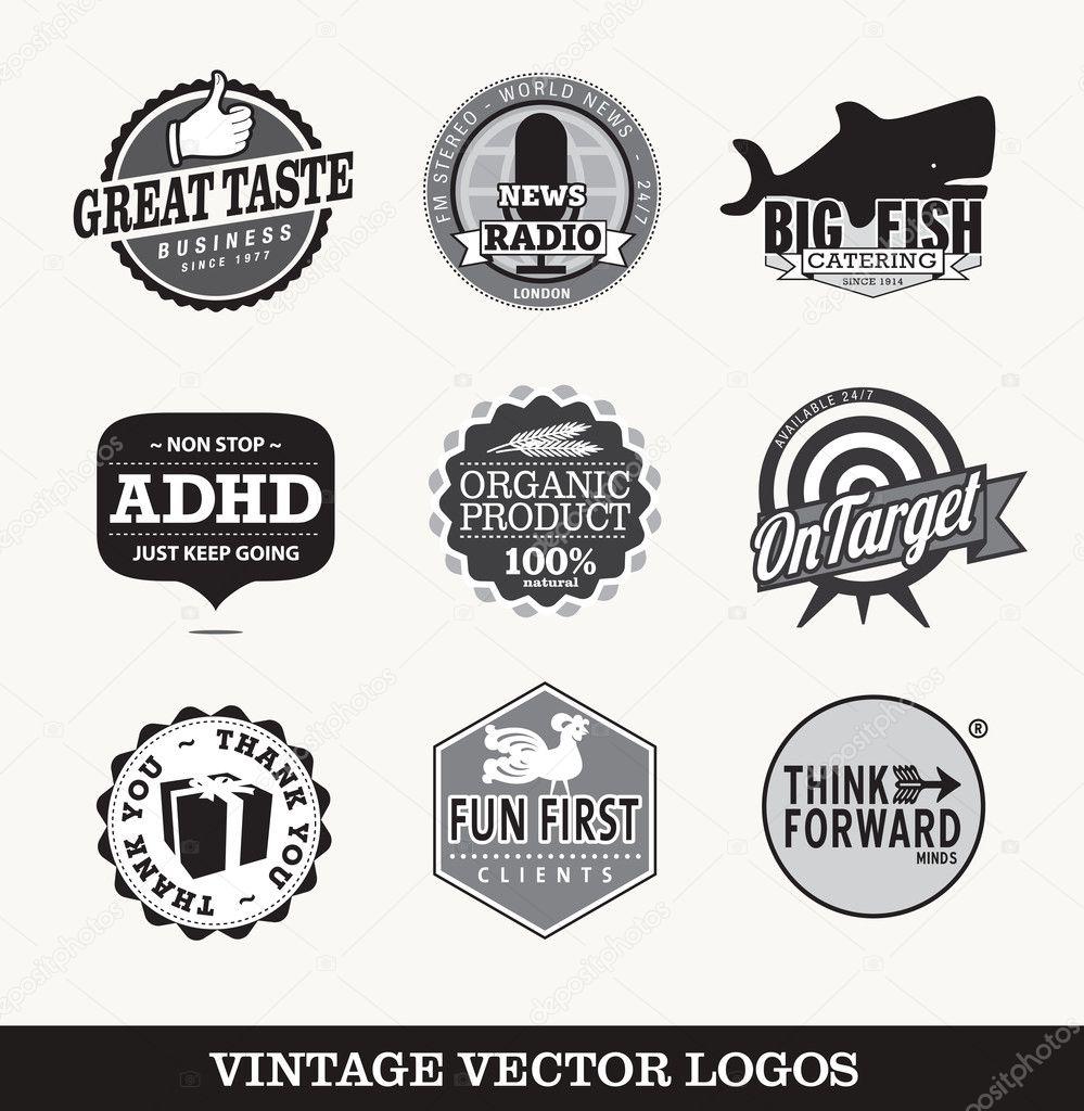 Vector logos old vinta...