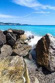 Rocks on a coastline beach — Stock Photo