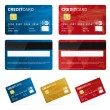 Credit card vector images — Stock Vector
