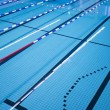 Pool with swimming lanes — Stock Photo