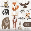 Forest animals — Vector de stock  #37169751