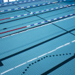 Stock Photo: Swimming pool lanes