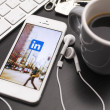 Linkedin social media icon on an iPhone 5 — Stock Photo #38337841