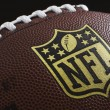 NFL logo on football — Stock Photo