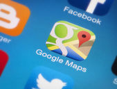 Google maps — Stock Photo