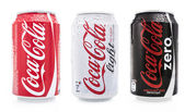 Coca cola soda cans — Stock Photo