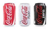 Coca cola soda cans — Stock Photo
