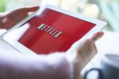 Netflix on tablet pc — Stock Photo