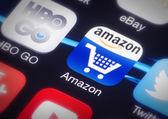 Amazon app icon — Stock Photo