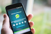 WhatsApp on android phone — Stok fotoğraf