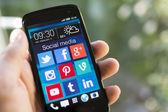 Mezzi di comunicazione sociale — Foto Stock