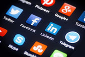 Social-media-symbole — Stockfoto