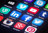 Icônes de médias sociaux — Photo