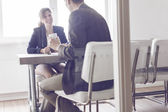 Job interview or business meeting — Stock Photo