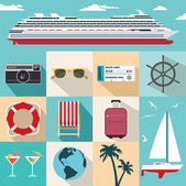 Cruise vacation — Stock Vector