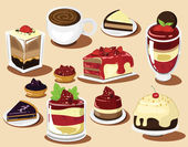 Cakes Vector set, other berry — Stock Vector