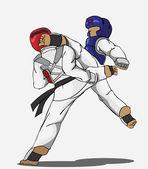 Taekwondo Martial art — Stock Vector