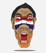 Football fan from Netherlands — Vecteur