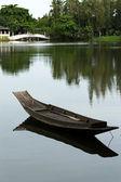 Boat in the lake — Stock Photo