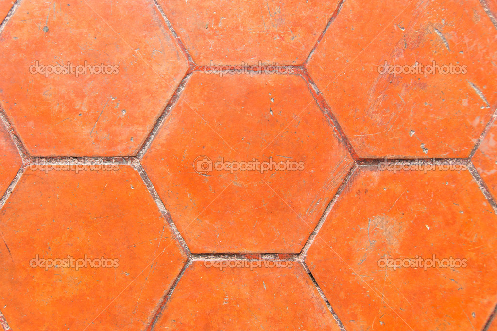 Brick ground texture in brown — Stockfoto #12122582
