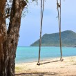 Swinging with tropical beach in thailand — Stock Photo