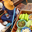 Tha Kha Floating Market in thailand — Stock Photo